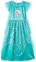Disney Disney's Frozen Elsa & Anna Girls 4-10 Fantasy Nightgown