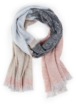 Sole Society Knit Color Block Scarf