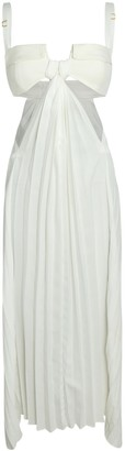 Dion Lee Pocket Bra Pleated Midi Dress