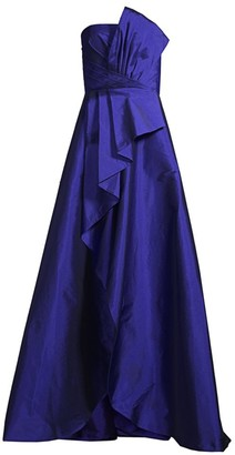 Jay Godfrey Drape Pleated Evening Gown