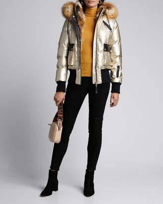 Nicole Benisti Mayfair Fox Fur-Trimmed Hooded Puffer Coat
