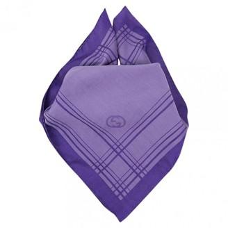 Gucci Purple Cotton Scarves