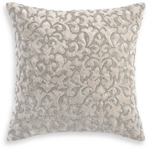 "Hotel Collection Classic Flourish Floral Damask 18"" x 18"" Decorative Pillow, Created for Macy's Bedding"