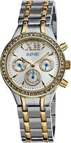 August Steiner Women's ASA840TTG Crystal Multi-Function Bracelet Watch