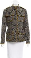 Anna Sui Jacquard Fringe-Trimmed Jacket