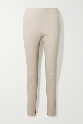 Theory Stretch-leather Leggings - Taupe
