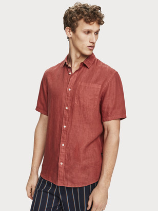 Scotch & Soda Short Sleeved Linen Shirt Regular fit | Men