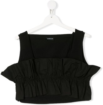 MonnaLisa TEEN gathered ruffle tank top