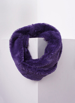 Missy Empire Inga Purple Fluffy Infinity Scarf