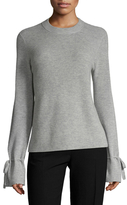 Wool Cashmere Tied Cuffs Sweater