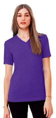 Clementine Apparel Women's Clementine Jersey Short-Sleeve V-Neck T-Shirt