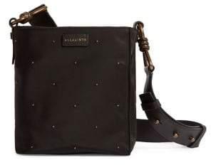 AllSaints Small Nilo Studded Nylon Crossbody Bag