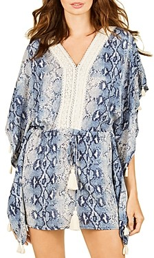 Surf.Gypsy Snakeskin Print Tunic Swim Cover-Up