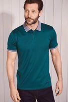 Next Mens Green Short Sleeve Polo