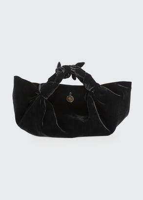 The Row Small Ascot Bag in Velvet