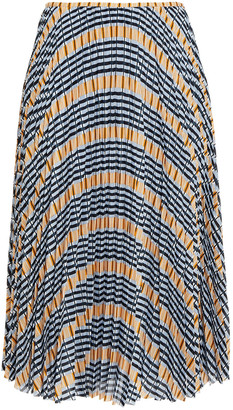 Samsoe & Samsoe Samse Samse Juliette Pleated Printed Crepe De Chine Midi Skirt