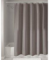 InterDesign Mildew-Free Water-Repellent Fabric Shower Curtain, 183 x 183 cm - Dark Taupe