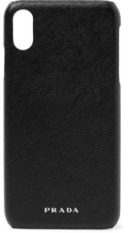 best deals on f0071 0d79b Logo-Embossed Saffiano Leather Iphone Xs Max Case