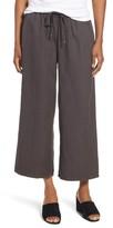 Eileen Fisher Petite Women's Tencel & Linen Crop Pants