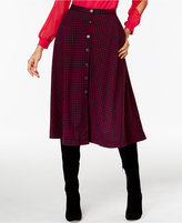 NY Collection Ponte Plaid A-Line Skirt
