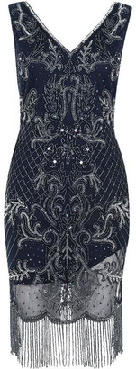 Frock and Frill Hera Embellished Flapper Dress