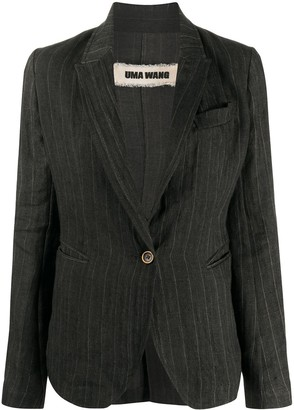 UMA WANG Single-Breasted Fitted Blazer