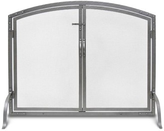 Pottery Barn Old World Fireplace Arched Door Screen