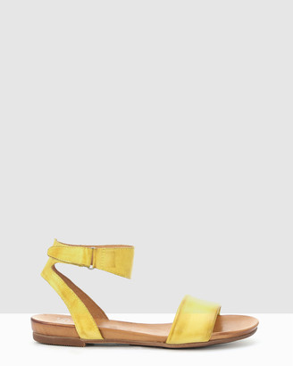 EOS Women's Yellow Flat Sandals - Lauren - Size One Size, 37 at The Iconic