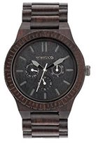 WeWood Men's Kappa Black Wooden Watch by