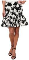 Nicole Miller Palm Medley Ruffle Bottom Skirt
