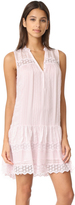 Rebecca Taylor Sleeveless Stripe Silk Dress