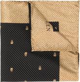 Alexander McQueen skull print pocket square - men - Silk/Polyamide/Metallic Fibre - One Size