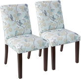 Skyline Furniture Blue Shannon Uptown Side Chairs, Pair