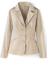 Signature Stretch Sateen Collection: Fitted Blazer