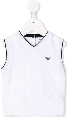Emporio Armani Kids Knitted Logo Vest
