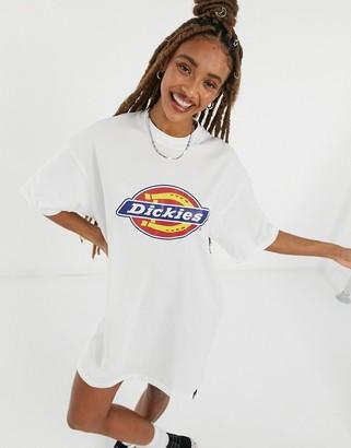 Dickies Varnell Horseshoe logo t-shirt dress in white