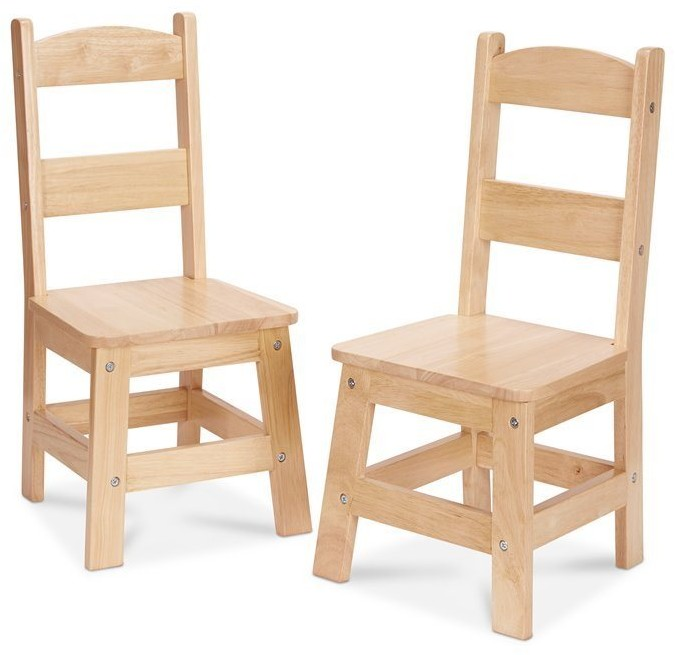Melissa & Doug Wooden Chair 2-Pack Brown