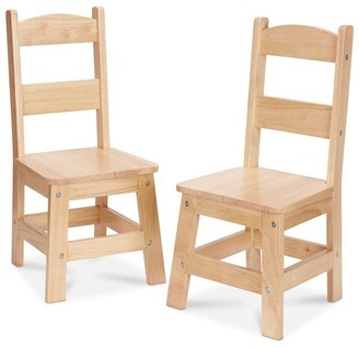 Melissa & Doug Wooden Chair 2-Pack Brown