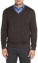 Robert Talbott Men's Merino Wool V-Neck Sweater