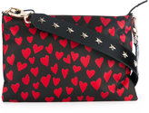 RED Valentino heart print crossbody bag - women - Calf Leather/Nylon - One Size