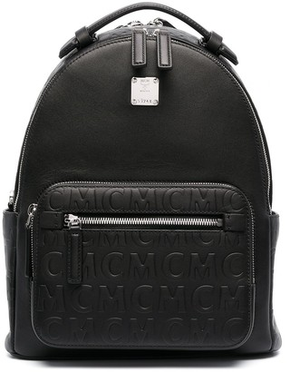 MCM Logo Zipped Backpack