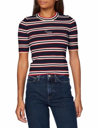 Tommy Jeans Women's TJW Stripe 3/4 Sleeve Sweater