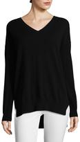 Qi Women's High Low Cashmere Sweater