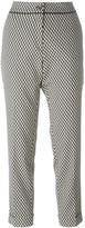 Etro geometric print cropped trousers - women - Cotton/Polyamide/Polyester/Spandex/Elastane - 46