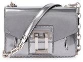 Proenza Schouler Hava Sparkling Metallic Leather Crossbody Bag, Silver