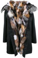 Army Yves Salomon fox fur lined parka