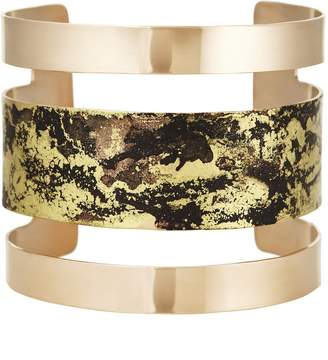Design Studio Odell Parallel Cuff - Black and Gold