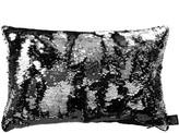 Aviva Stanoff Two Tone Mermaid Sequin Cushion - Black/Silver - 30x45cm