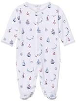 Kissy Kissy White Seven Seas Print Vest Babygrow