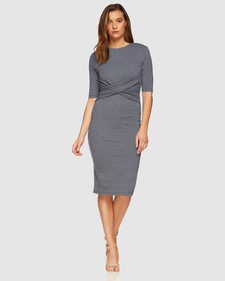 Oxford Annie Stretch Knit Geo Dress